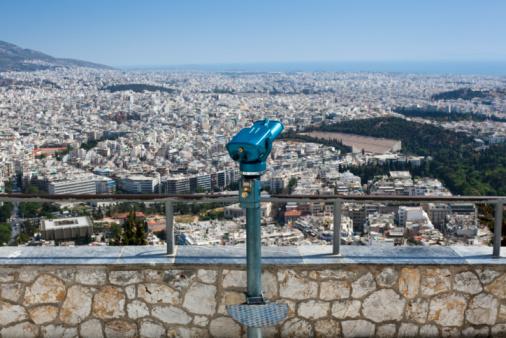 Visão de Atenas do Monte Lycabettus