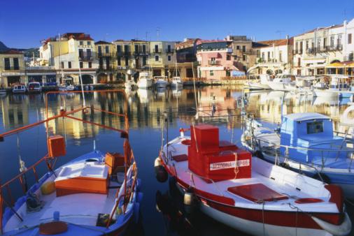 Porto na Ilha de Creta