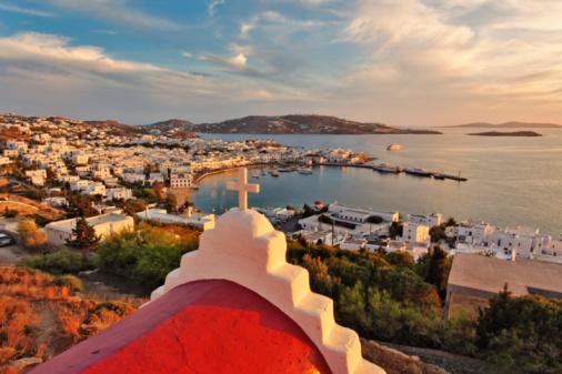Vista da Ilha de Mykonos