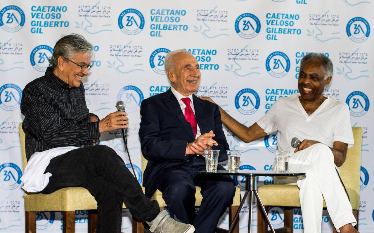 Caetano Veloso e Gilberto Gil em Israel