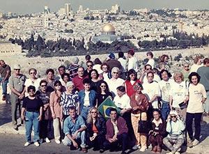 Grupo Excursão Viagem a Terra Santa Egito e Israel visitando Jerusalem