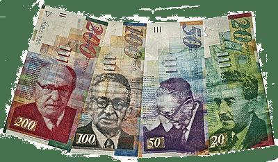 Shekel a moeda em Israel